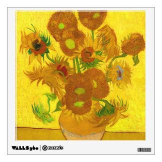 Van Gogh Fifteen Sunflowers In A Vase Fine Art Wall Sticker