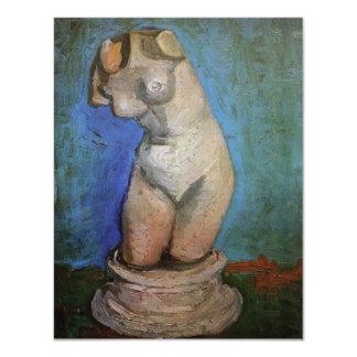 """Van Gogh; Figurilla del yeso de un torso femenino Invitación 4.25"""" X 5.5"""""""