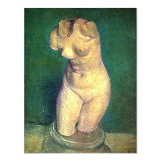 """Van Gogh, figurilla del yeso de un torso femenino Invitación 4.25"""" X 5.5"""""""