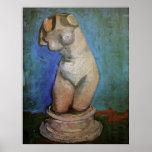 Van Gogh; Figurilla del yeso de un torso femenino Impresiones