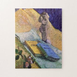 Van Gogh, figurilla del yeso, un color de rosa y Puzzle