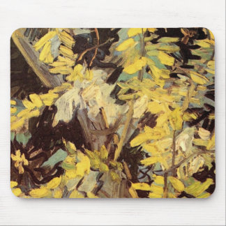 Van Gogh Fine Art, Blossoming Acacia Branches Mouse Pad