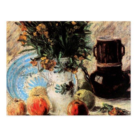 Van Gogh Fine Art, Flowers, Coffeepot and Fruit Postcard