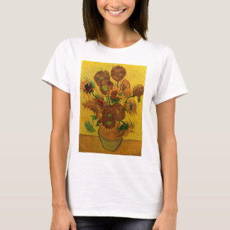 Van Gogh Fine Art Flowers, Vase with 15 Sunflowers T-Shirt