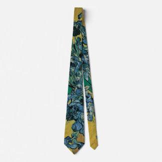 Van Gogh Fine Art Still Life with Irises on Yellow Tie