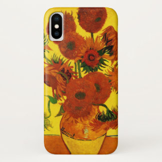 Van Gogh Fine Art, Vase with 15 Sunflowers iPhone X Case