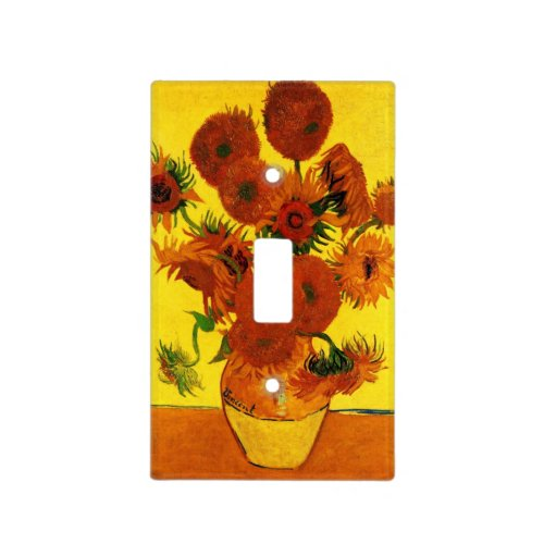 Van Gogh Fine Art, Vase with 15 Sunflowers Light Switch Cover