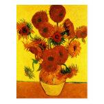 Van Gogh Fine Art, Vase with 15 Sunflowers Postcard