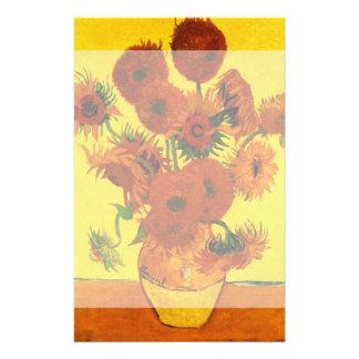 Van Gogh Fine Art, Vase with 15 Sunflowers Stationery