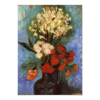 Van Gogh Fine Art Vase with Carnations and Flowers Card