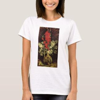 Van Gogh Fine Art Vase with Gladioli and Carnation T-Shirt