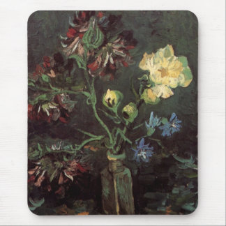 Van Gogh Fine Art, Vase with Myosotis and Peonies Mouse Pad