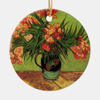 Van Gogh Fine Art, Vase with Oleanders and Books Ceramic Ornament