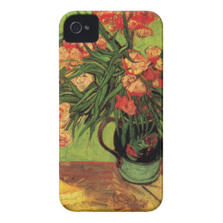 Van Gogh Fine Art, Vase with Oleanders and Books iPhone 4 Case