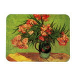 Van Gogh Fine Art, Vase with Oleanders and Books Rectangular Photo Magnet