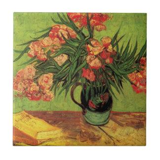 Van Gogh Fine Art, Vase with Oleanders and Books Tile