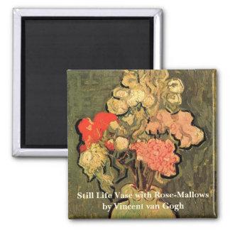 Van Gogh Fine Art, Vase with Rose Mallow Flowers Magnet