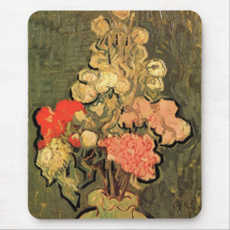 Van Gogh Fine Art, Vase with Rose Mallow Flowers Mouse Pad