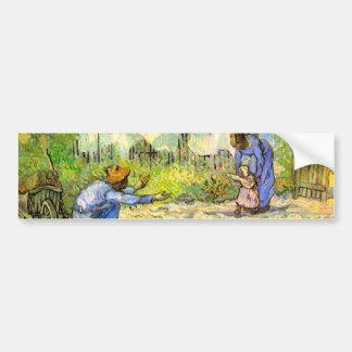 Van Gogh First Steps (after Millet) (F668) Car Bumper Sticker