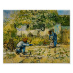 Van Gogh - First Steps (after Millet) Print