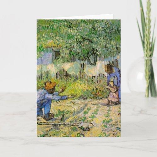 Van Gogh First Steps Vintage Impressionism Art Card