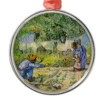 Van Gogh, First Steps, Vintage Impressionism Art Metal Ornament
