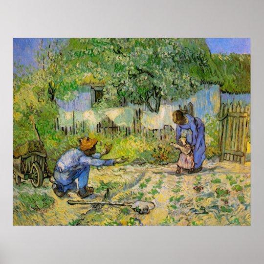 Van Gogh, First Steps, Vintage Impressionism Art Poster