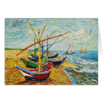 Van Gogh Fishing Boats Greeting Card