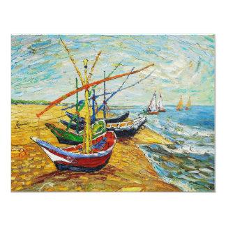 Van Gogh Fishing Boats Invitations
