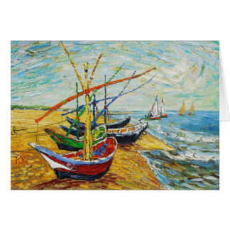 Van Gogh Fishing Boats Note Card