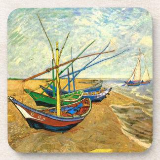 Van Gogh Fishing Boats on Beach at Saintes Maries Coaster