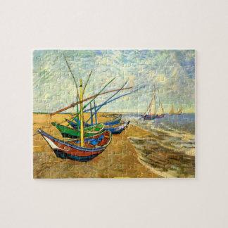 Van Gogh Fishing Boats on Beach at Saintes Maries Jigsaw Puzzle