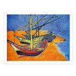 Van Gogh Fishing Boats on Beach (F1429) Fine Art Post Card