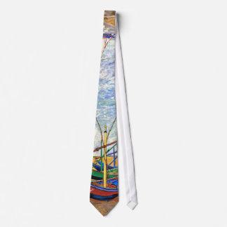 Van Gogh - Fishing Boats On The Beach Tie