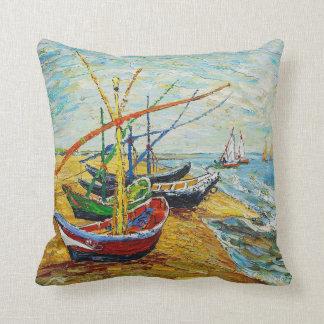 Van Gogh Fishing Boats Pillow