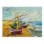 Van Gogh Fishing Boats Postcard