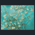 """Van Gogh Floral Almond Tree Tissue Paper<br><div class=""""desc"""">This is the oil painting &quot;Blossoming Almond Tree&quot; done in 1890 by Dutch post- impressionist artist Vincent Willem van Gogh (1853-1890).     It is our Fine Art Series no. 113. The source images for this series are original art created by lazyrivergreetings or vintage fine art or photography.</div>"""