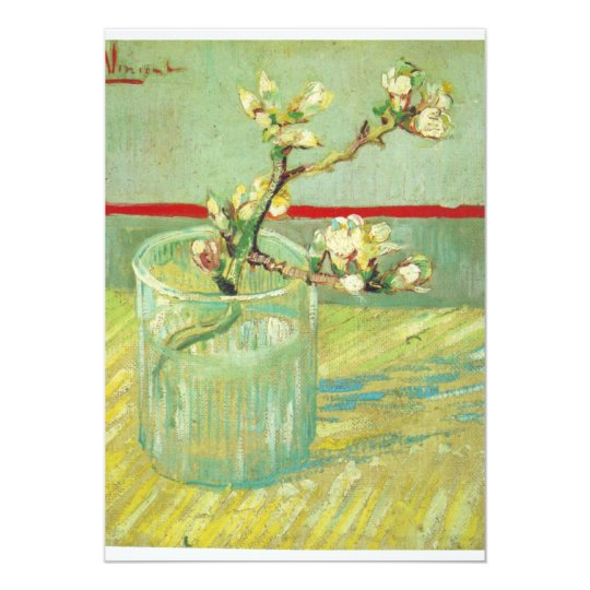 Van Gogh floral art Card