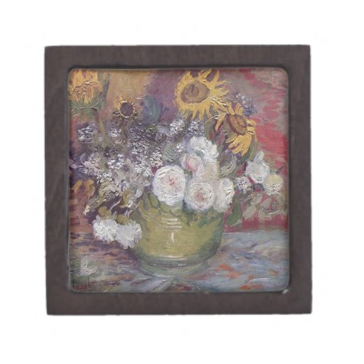 Van Gogh floral Cajas De Regalo De Calidad