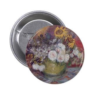 Van Gogh floral Pin