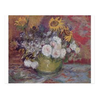 Van Gogh Floral Postcard