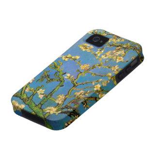 Van Gogh florece el arte, árbol de almendra Case-Mate iPhone 4 Fundas