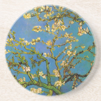 Van Gogh florece el arte, árbol de almendra Posavasos Cerveza