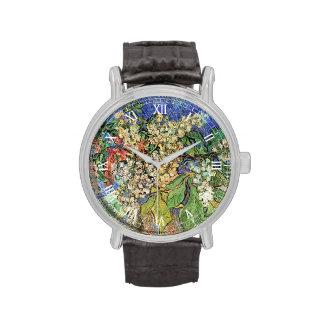 Van Gogh florece el arte, ramas florecientes de la Relojes De Pulsera