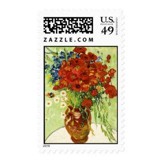 Van Gogh - florero con Cornflowers y amapolas Sello