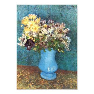 """Van Gogh: Florero con la lila, las margaritas y Invitación 5"""" X 7"""""""