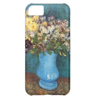 Van Gogh Florero con la lila las margaritas y la