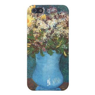 Van Gogh Florero con la lila las margaritas y la iPhone 5 Carcasas