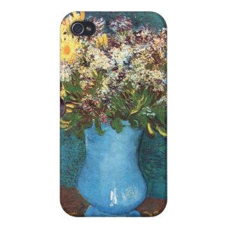 Van Gogh Florero con la lila las margaritas y la iPhone 4 Fundas