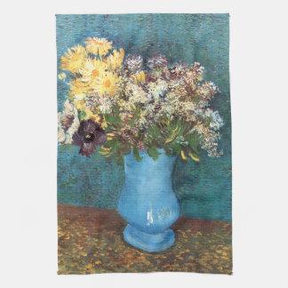 Van Gogh: Florero con la lila, las margaritas y la Toalla De Cocina